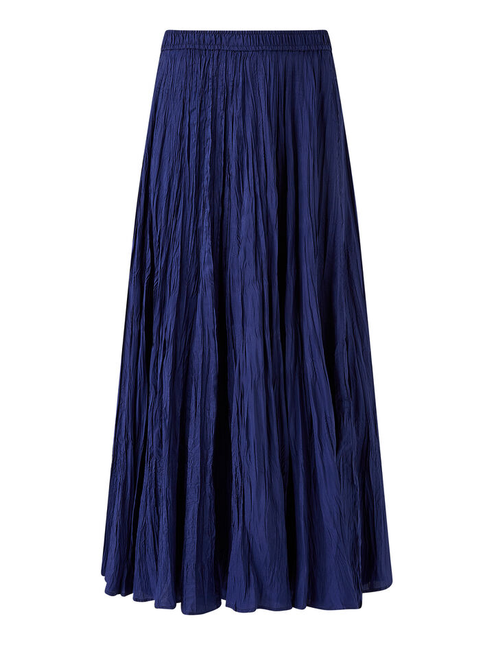 Joseph, Habotai Sully Skirt, in COBALT BLUE