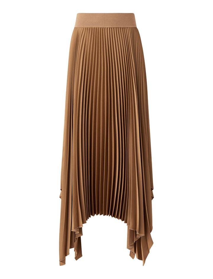 Joseph, Knit Weave Plissé Ade Skirt, in SIROCCO