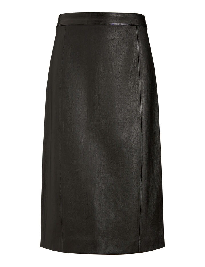 Joseph, Elle Stretch Leather Skirt, in BLACK