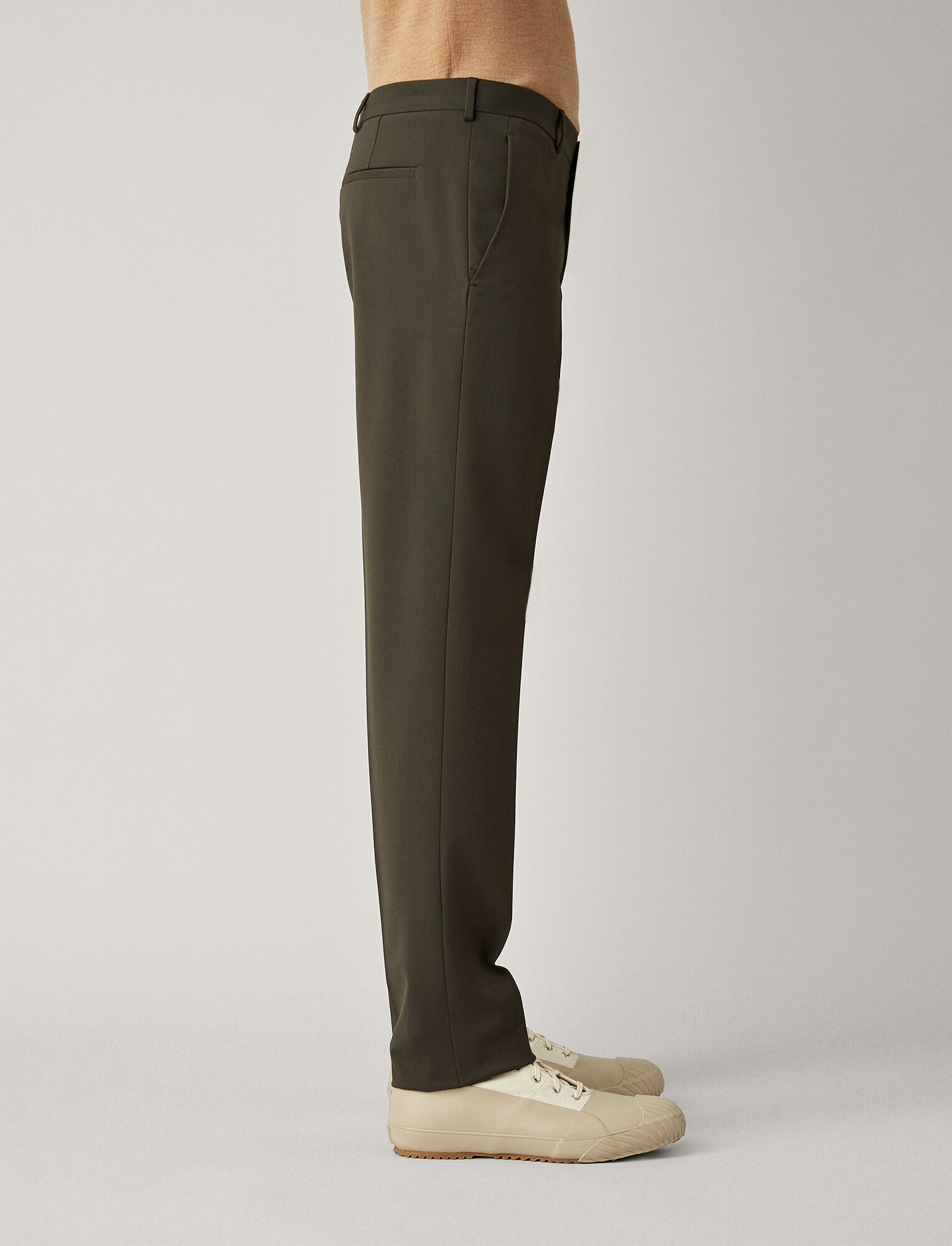 Joseph, Jack Techno Wool Stretch Trousers, in MILITARY