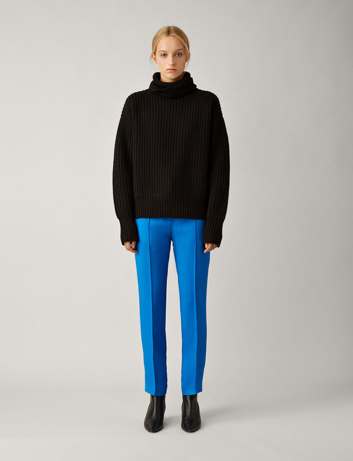 Joseph, Pearl Sweater Soft Wool Knit, in BLACK