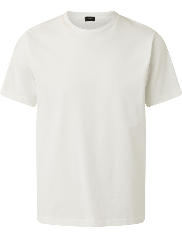 Joseph, Soft Organic Jersey T Shirt, in WHITE