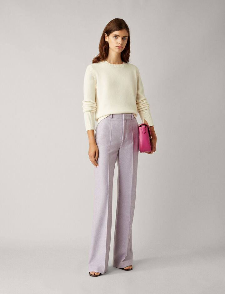 Joseph, Jess Herringbone Trousers, in LAVENDER