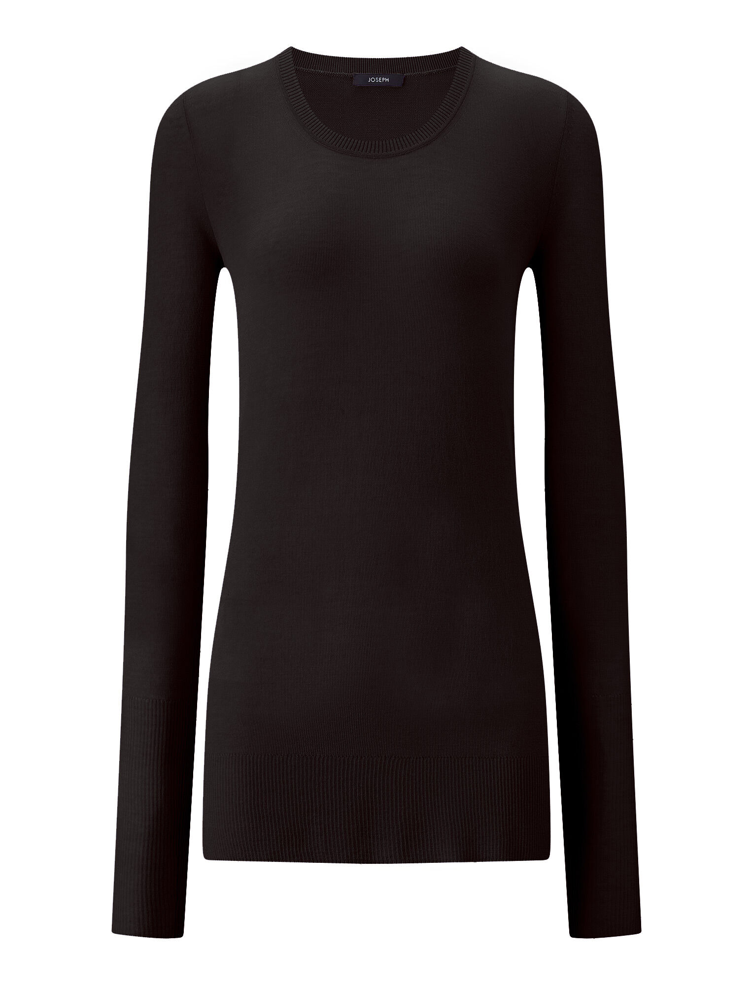 Joseph, Sheer Cotton Knit, in BLACK