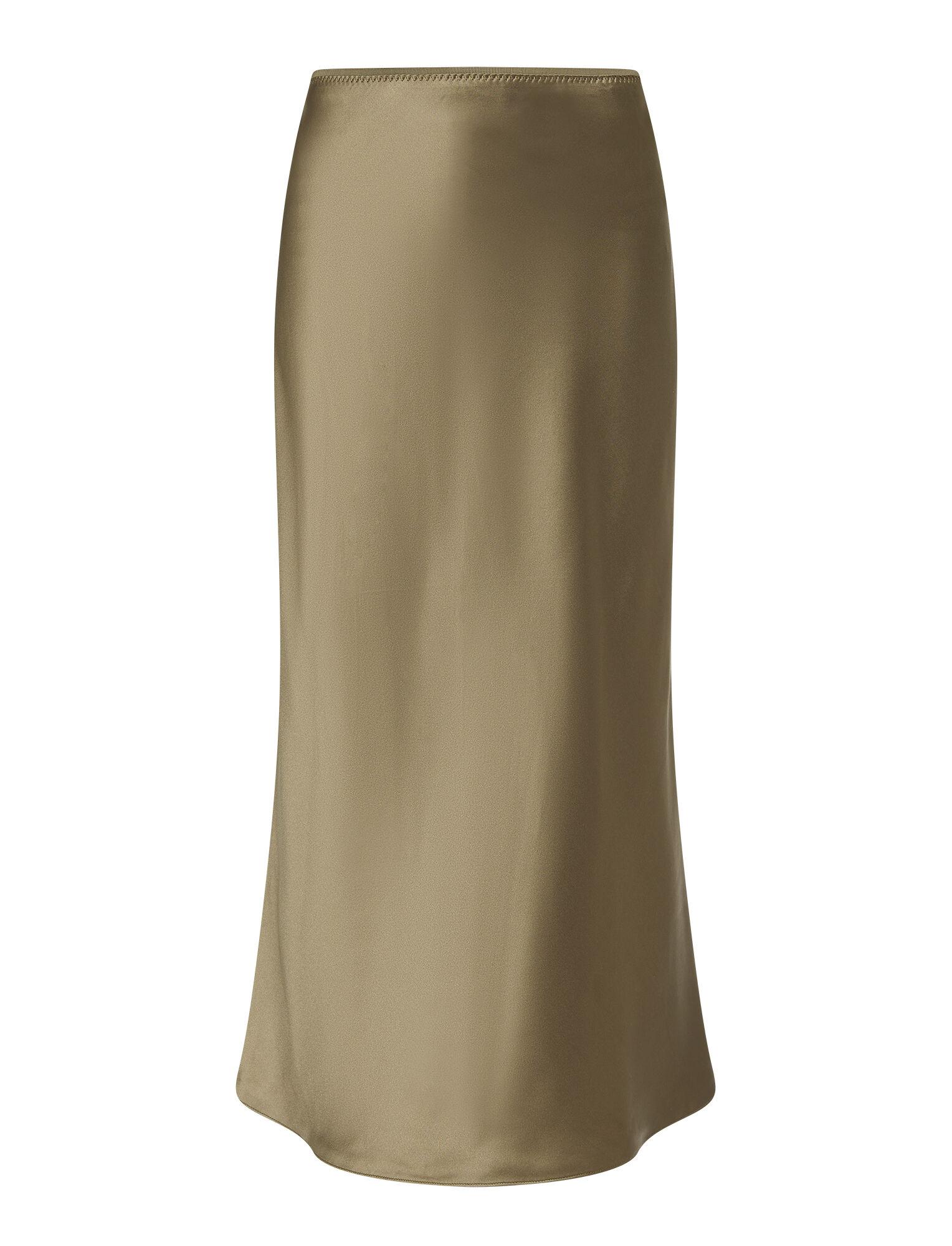 Joseph, Silk Satin Isaak Skirt, in ELM