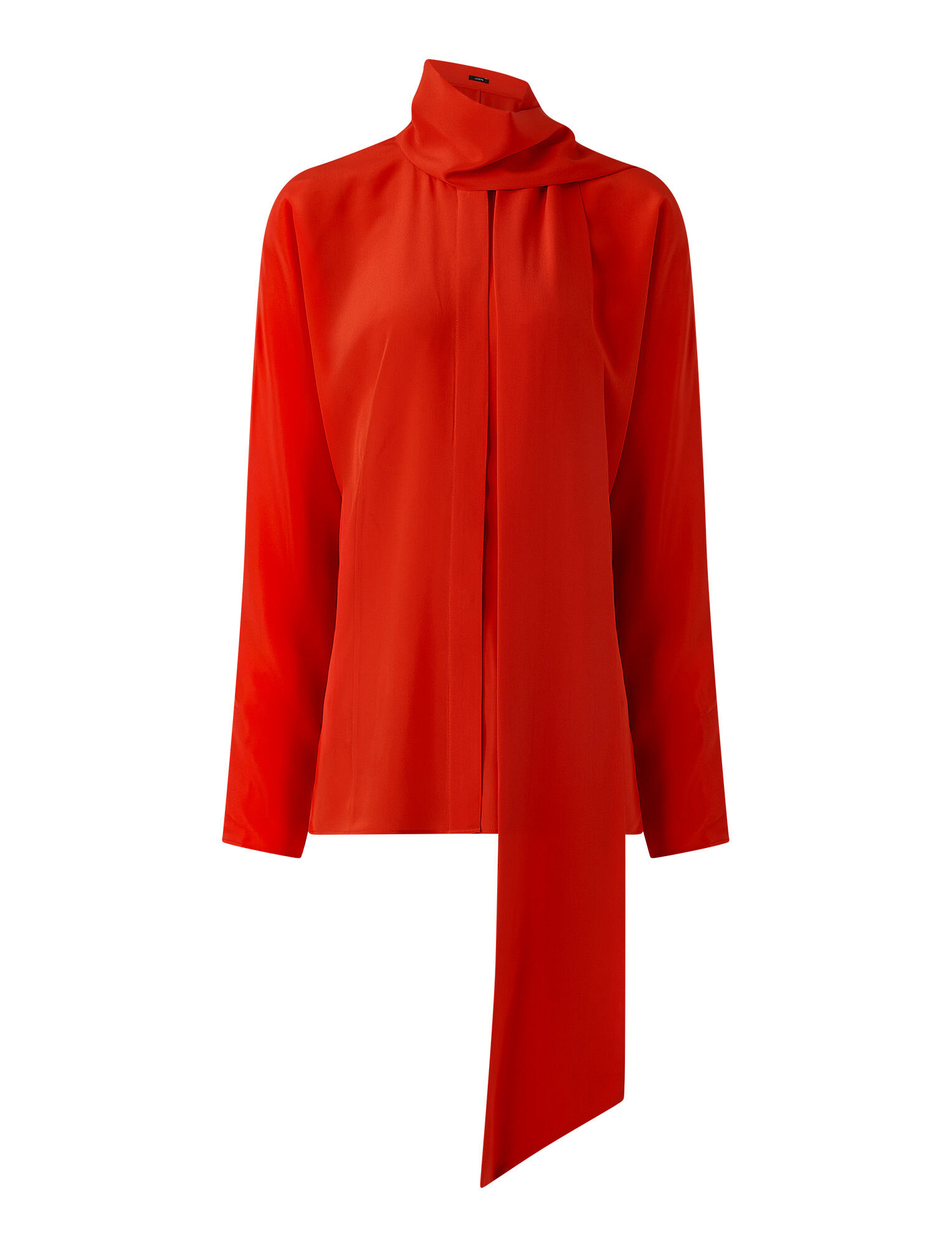 Joseph, Crepe de Chine Briti Blouse, in FLAME