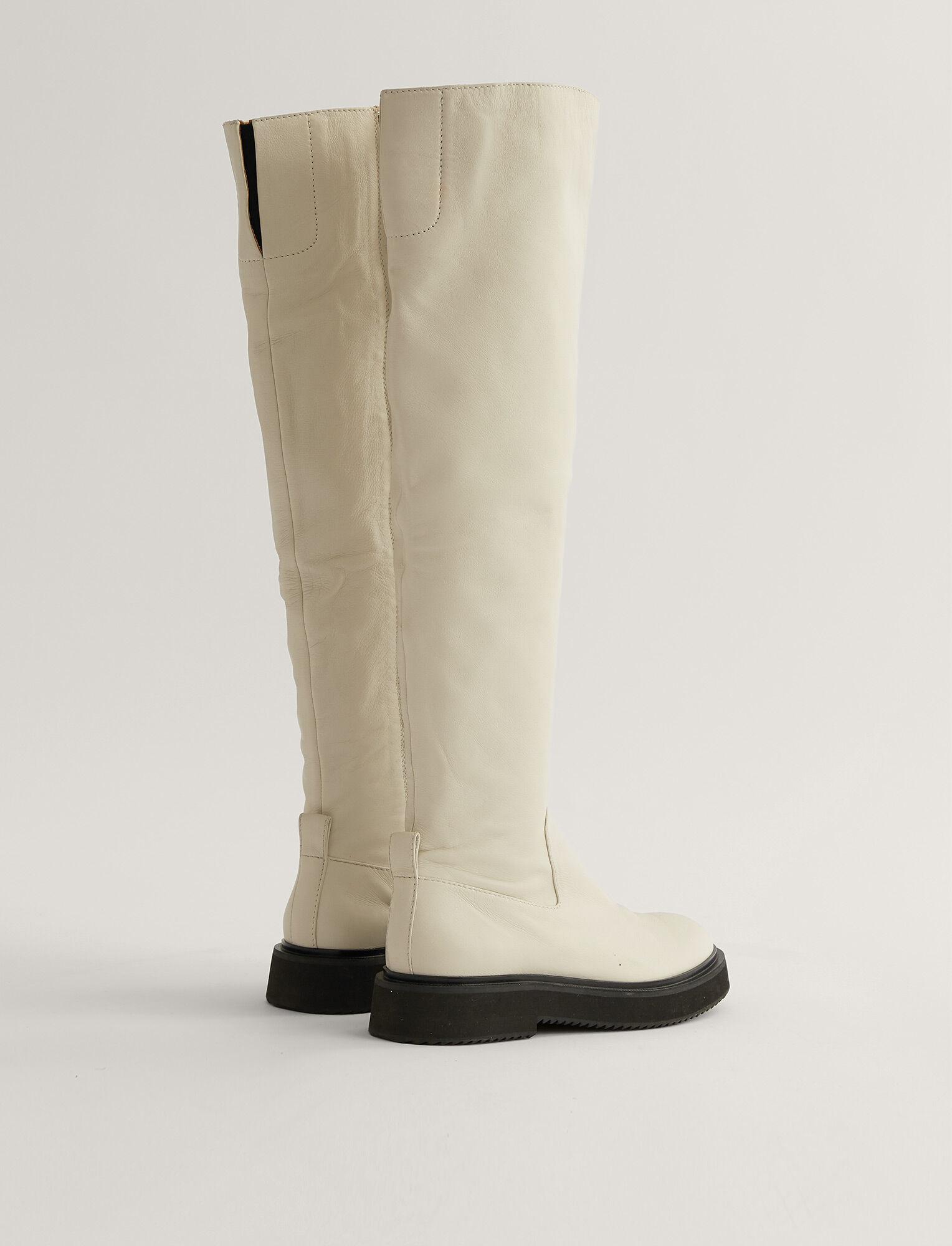 Joseph, British Knee High Boot, in Off White