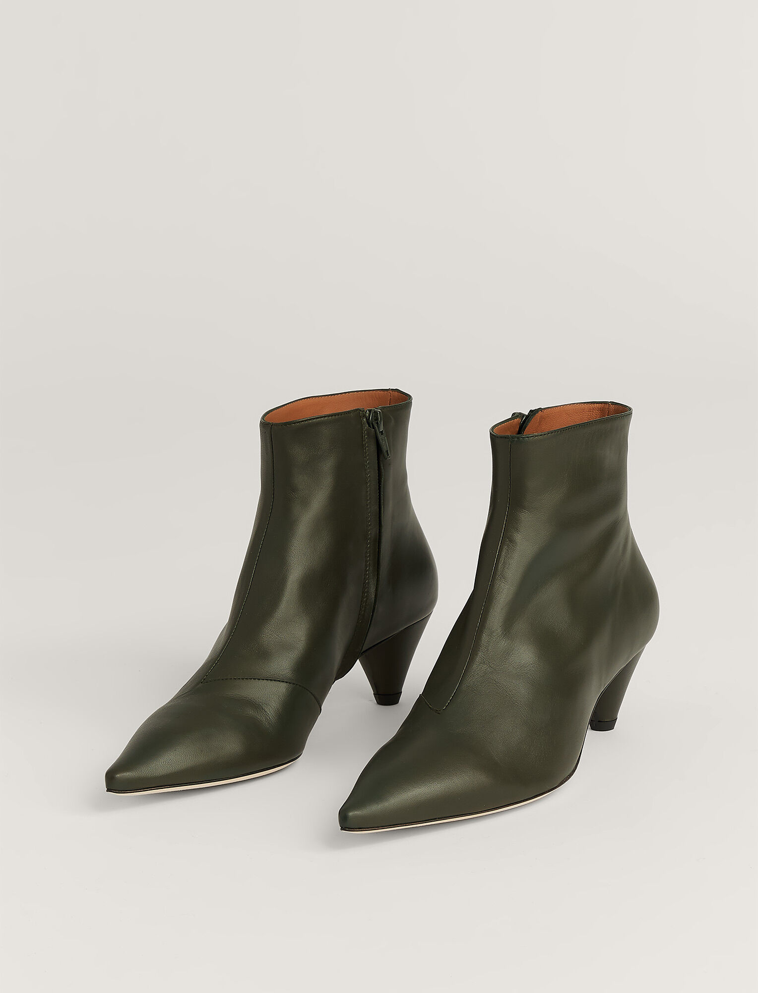 Joseph, Hanae Leather Ankle Boot, in MILITARY