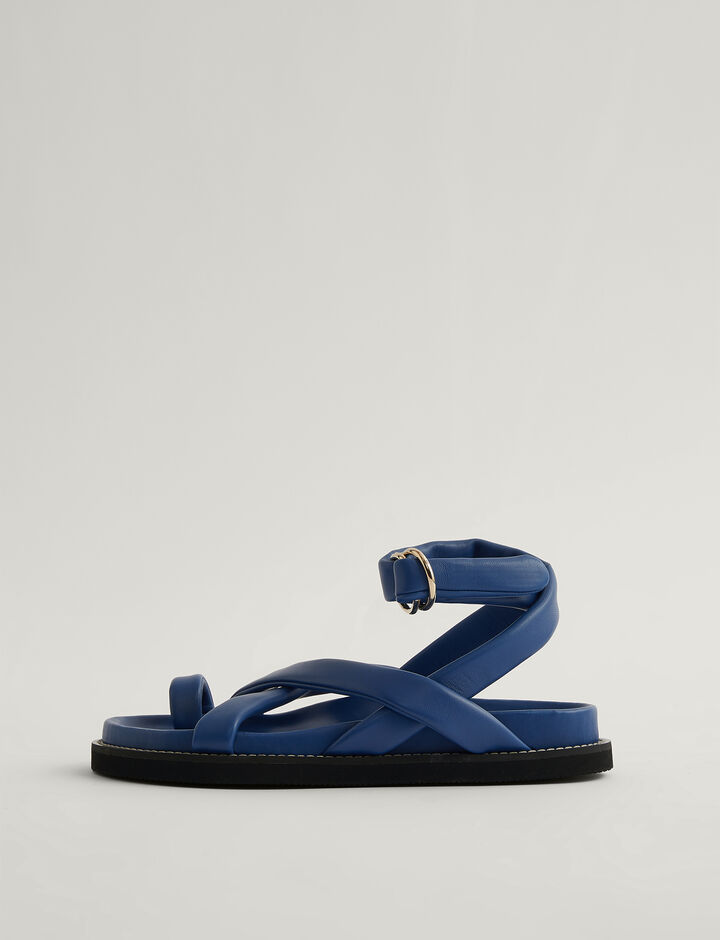 Joseph, Leather Jazal Sandal, in MAJORELLE
