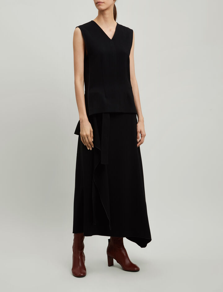 Joseph, Cecily Fluid Twill Blouse, in BLACK