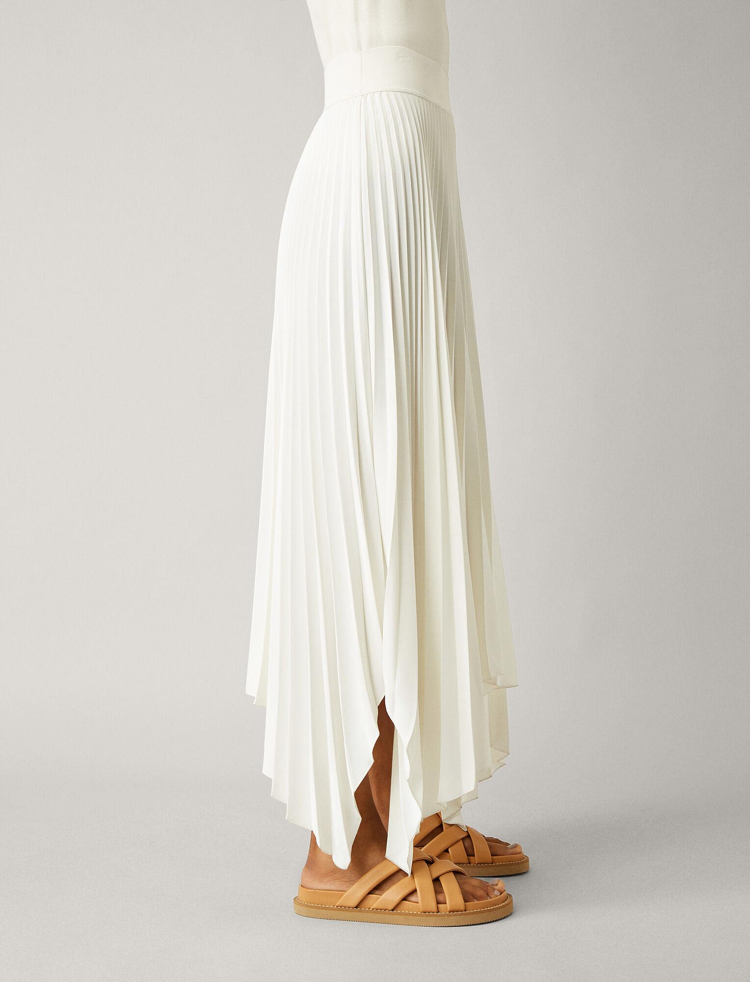 Joseph, Ade Rib Plisse Skirt, in IVORY
