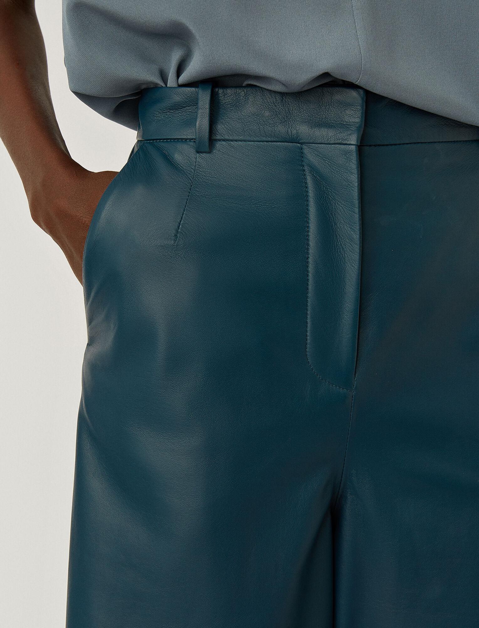 Joseph, Nappa Leather Teresa Shorts, in BLUE STEEL
