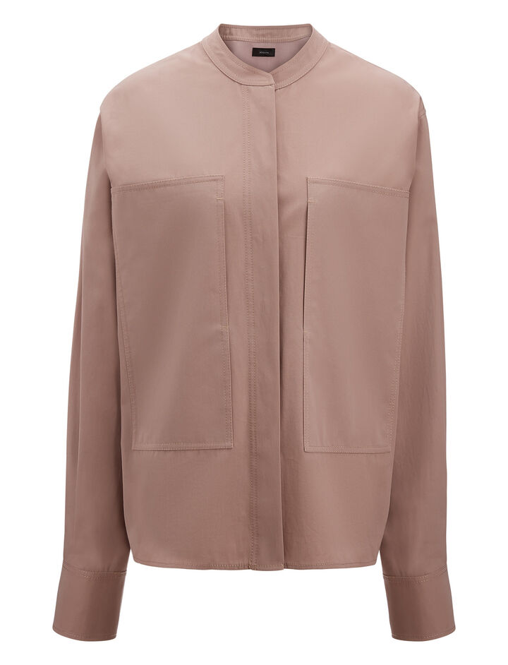 Joseph, Harriet High Twist Shirting Blouse, in ROSE