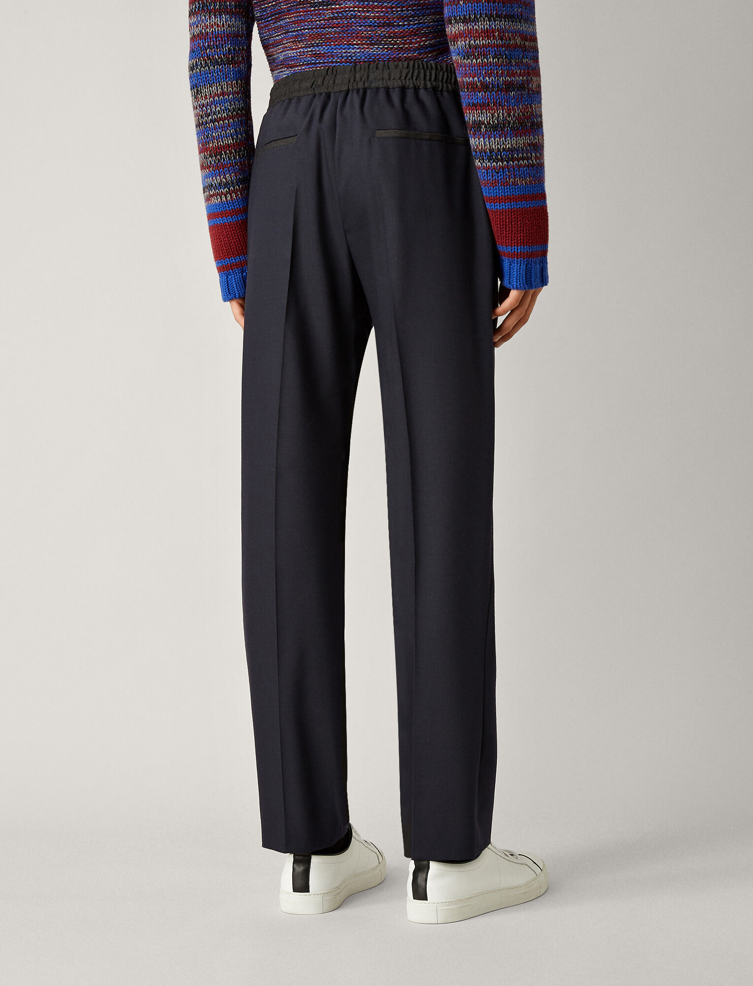 Joseph, Eugene Flannel Stretch Trousers, in NAVY