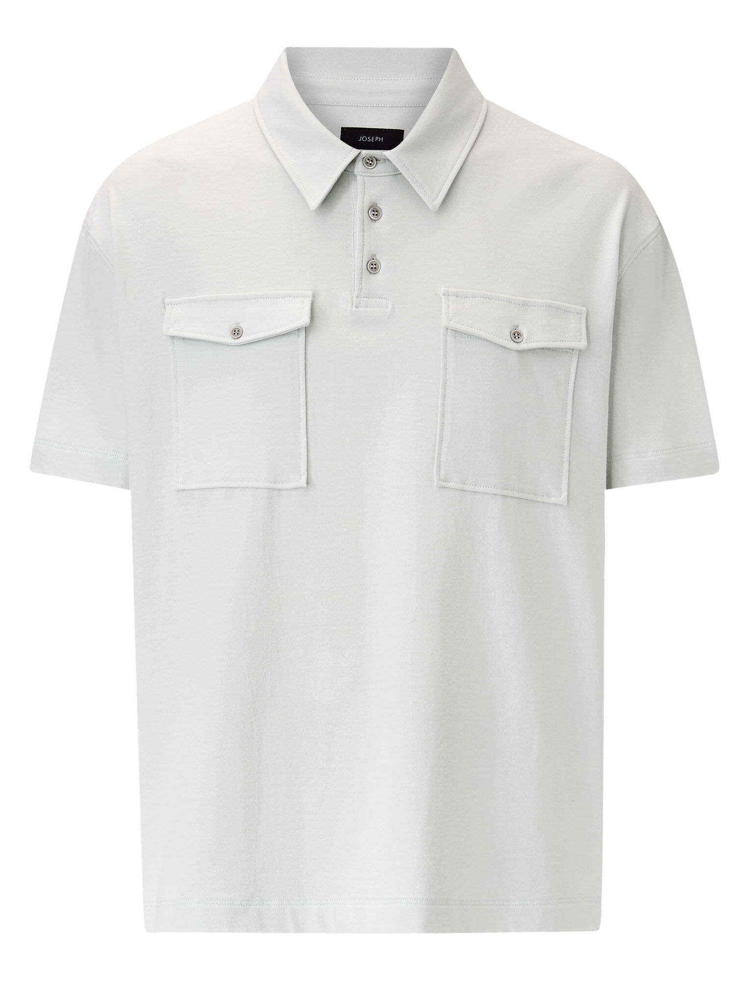 Joseph, Polo Tee Heavy Jersey, in STONE
