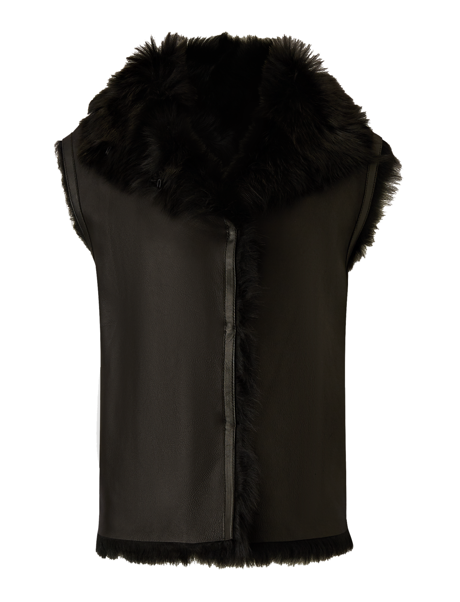 Joseph, Lacy Soft Toscana Sheepskin, in BLACK