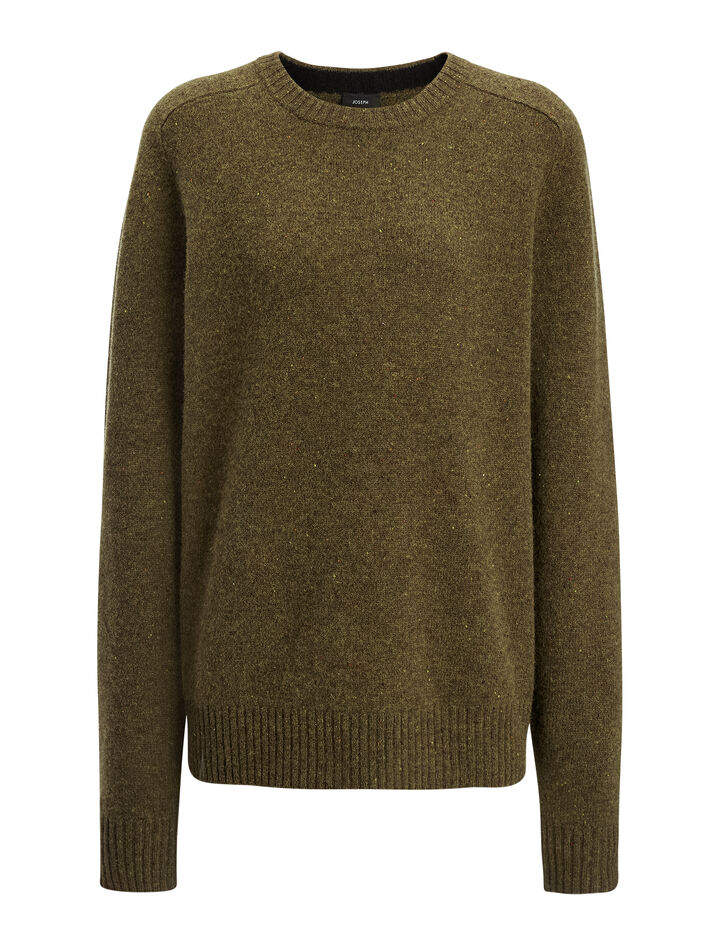 Joseph, Pure Wool Knit Sweater, in ARMY