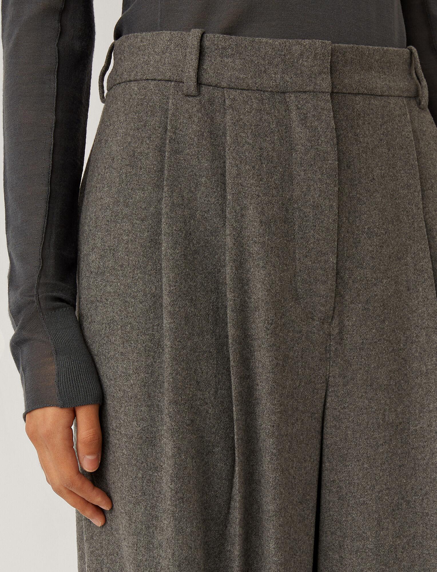 Joseph, Tima Silk Wool Flannel Trousers, in Ash