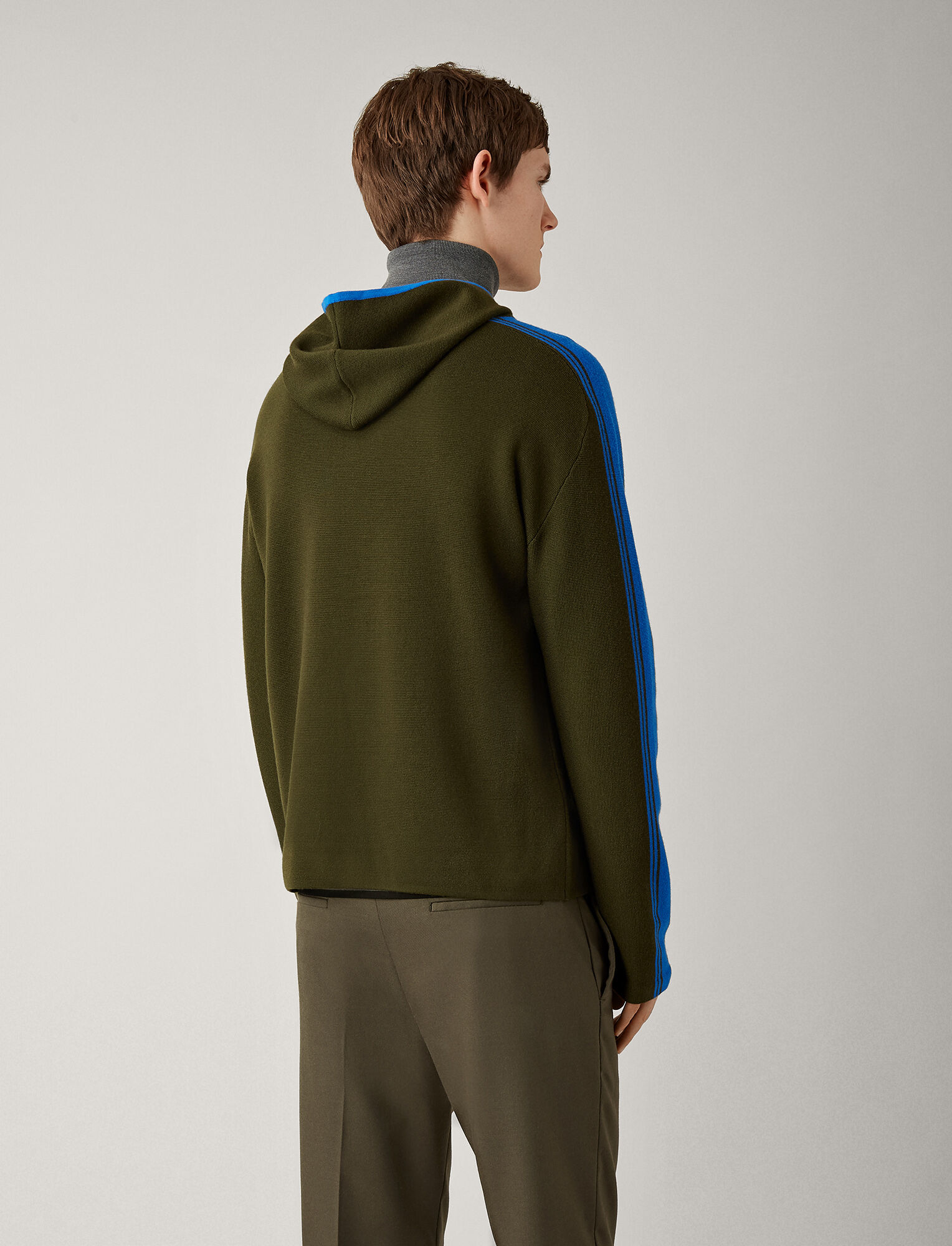 Joseph, Sportwear Milano Knit Hoody, in MILITARY