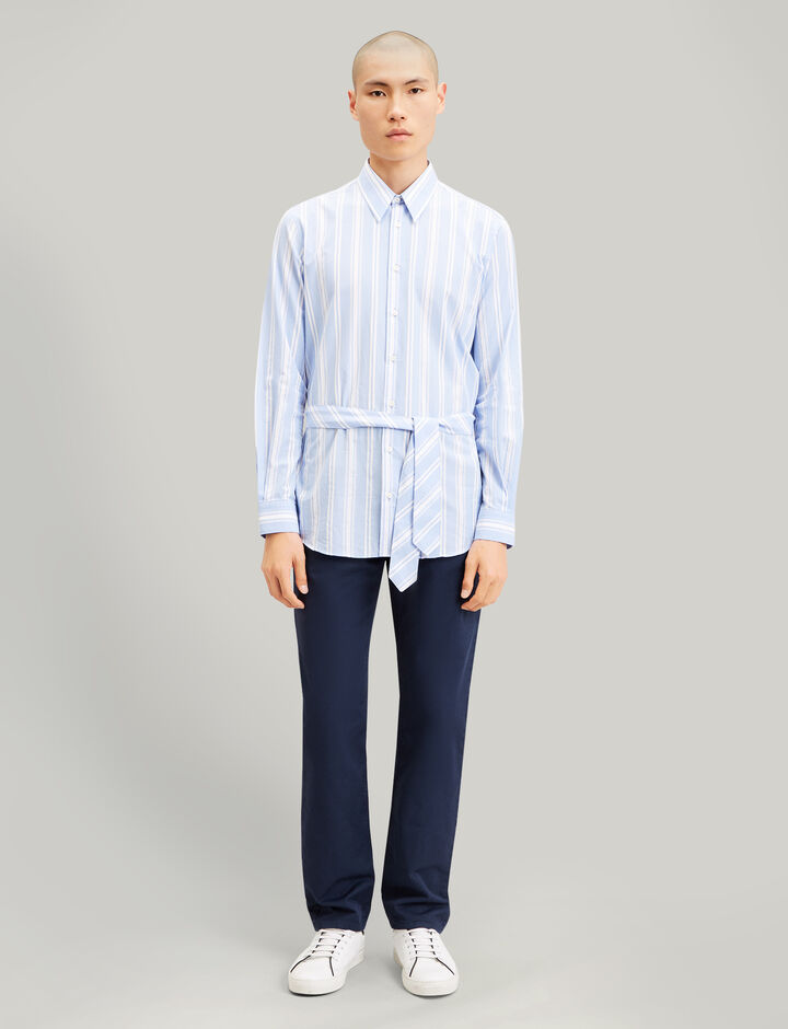 Joseph, Mougins Stripes Ajour Shirt, in BLUE