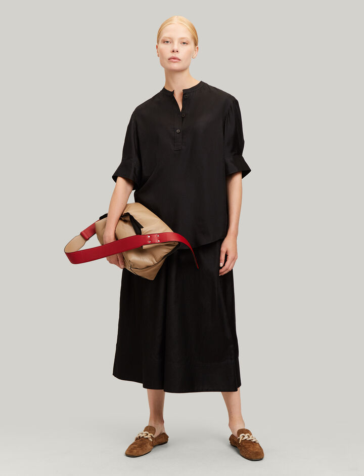 Joseph, Jay Cotton Silk Shirting Blouse, in BLACK