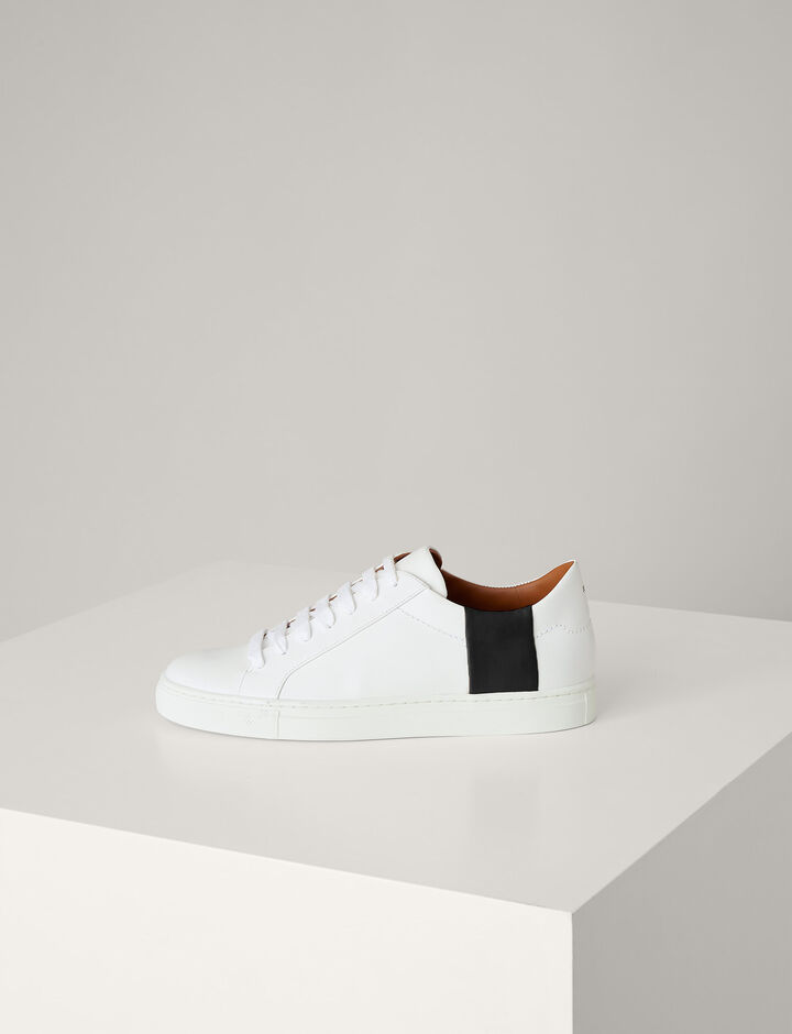 Joseph, Harry Leather Sneaker, in WHITE