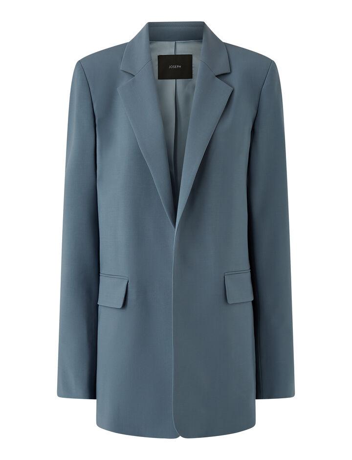 Joseph, Joan-Light Wool Suiting, in BLUE STEEL