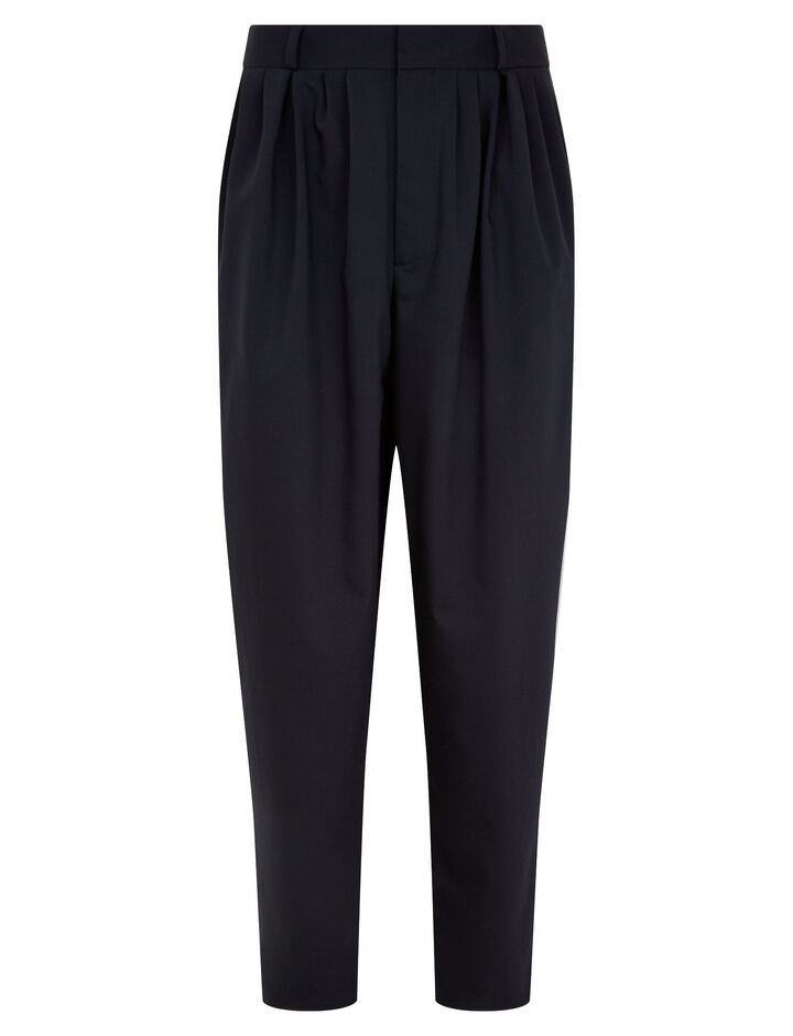 Joseph, Padstow Fine Comfort Wool Trousers, in NAVY