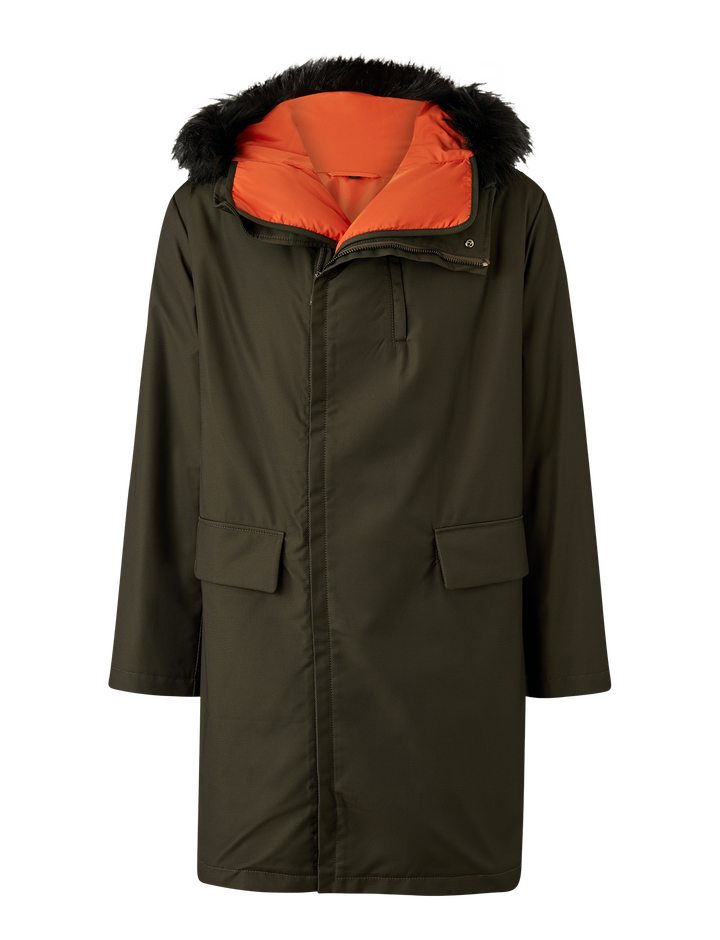 Joseph, Astor Textured Nylon Coat, in FOREST