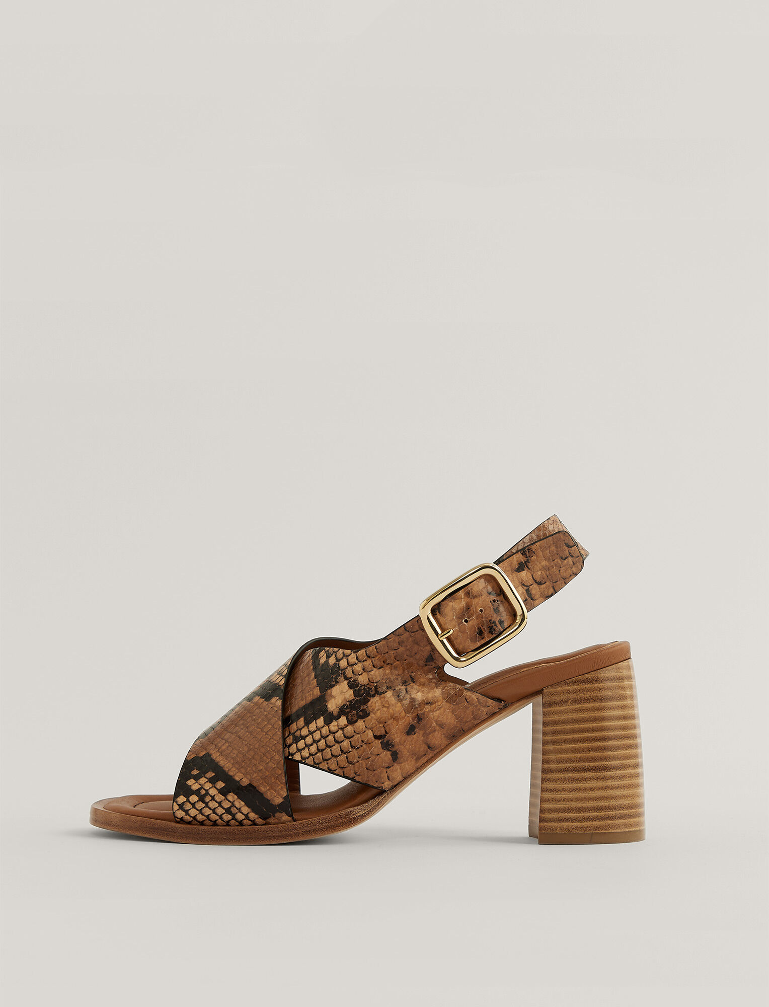 Joseph, Fadhma Leather Sandal, in CAMEL/GREY