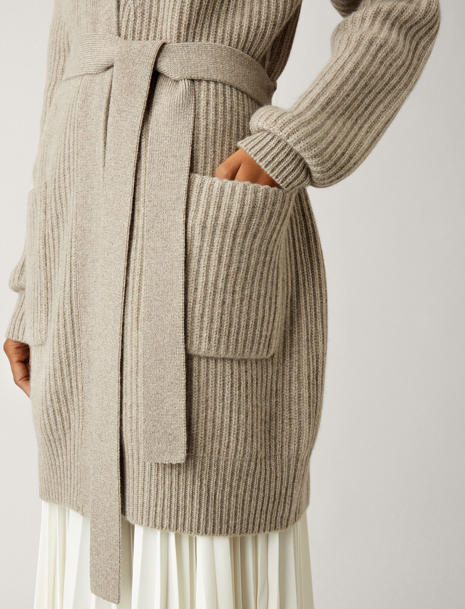 Joseph, Cardigan Cashmere Luxe Knit, in QUARTZ