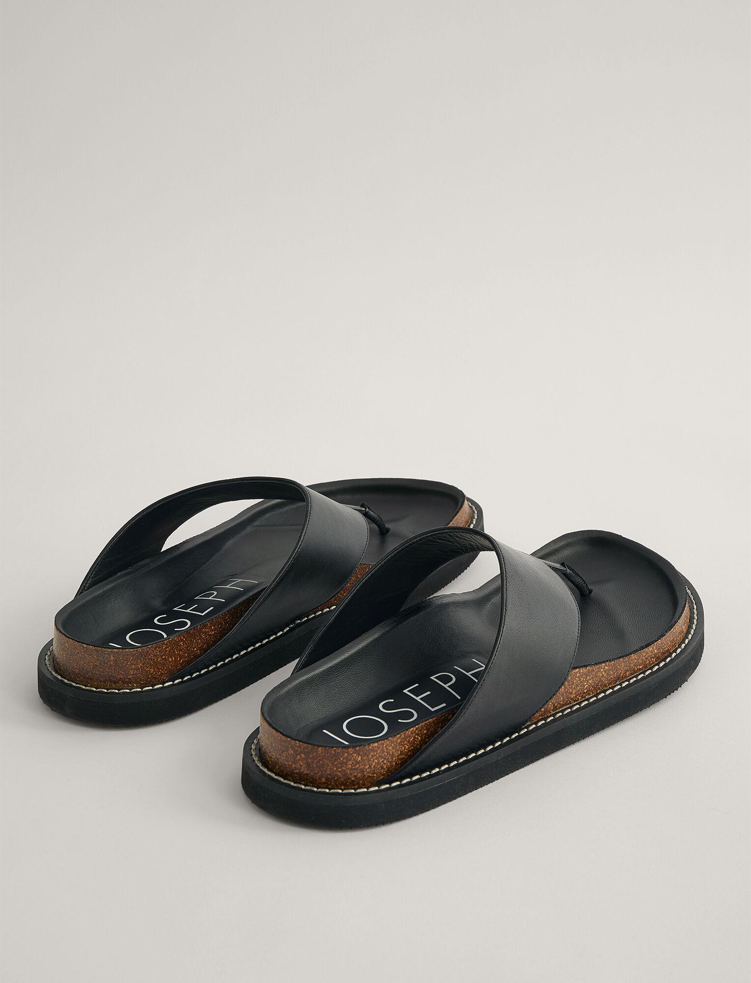 Joseph, Fussbett Thong Sandal, in BLACK