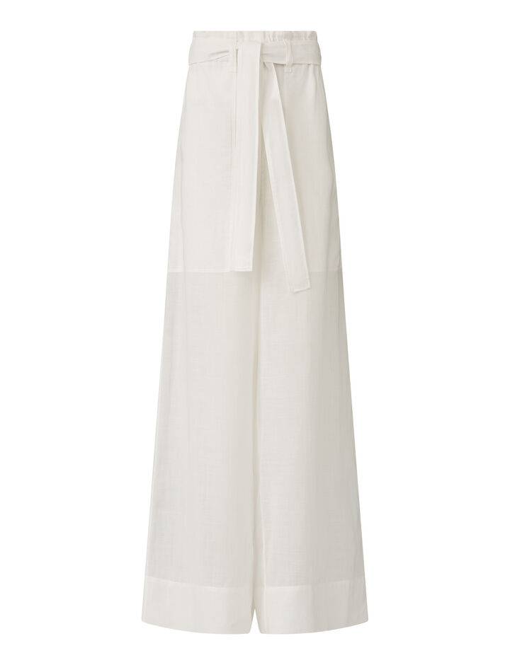 Joseph, Taïka  Ramie Voile Trousers, in Off White