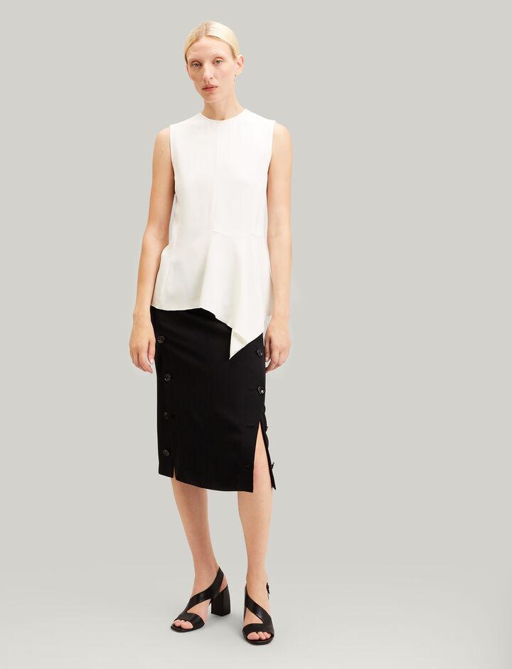 Joseph, Roland Viscose Cady Skirt, in BLACK