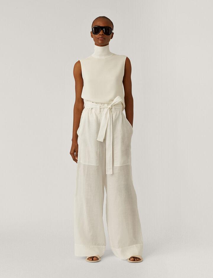 Joseph, Taïka  Ramie Voile Trousers, in Off White