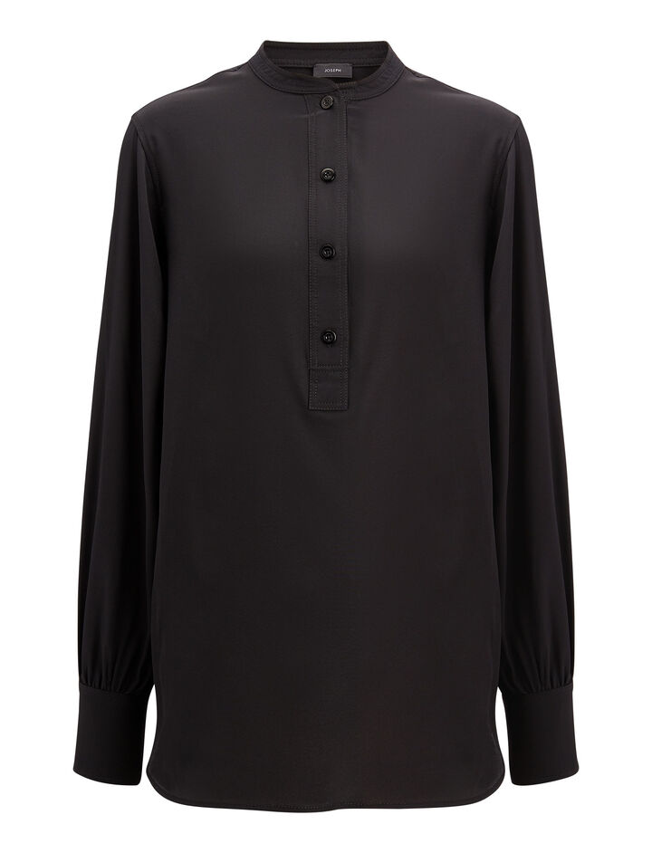 Joseph, Jarvis Crepe de Chine Blouse, in BLACK