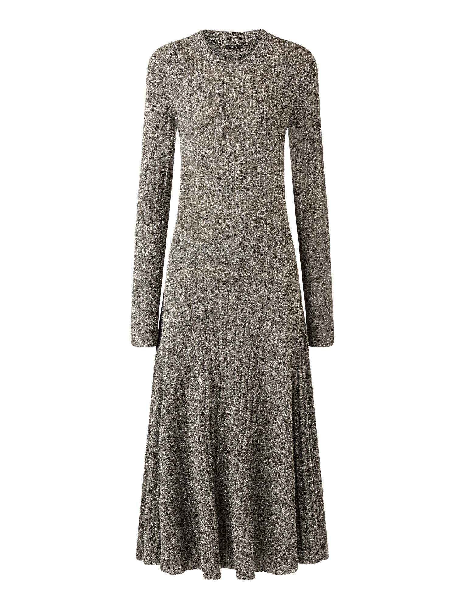 Joseph, Lurex Diva Dress, in ANTHRACITE