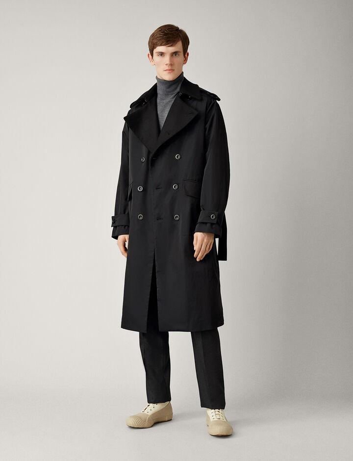 Joseph, Ayton Twill Nylon Coat, in NAVY
