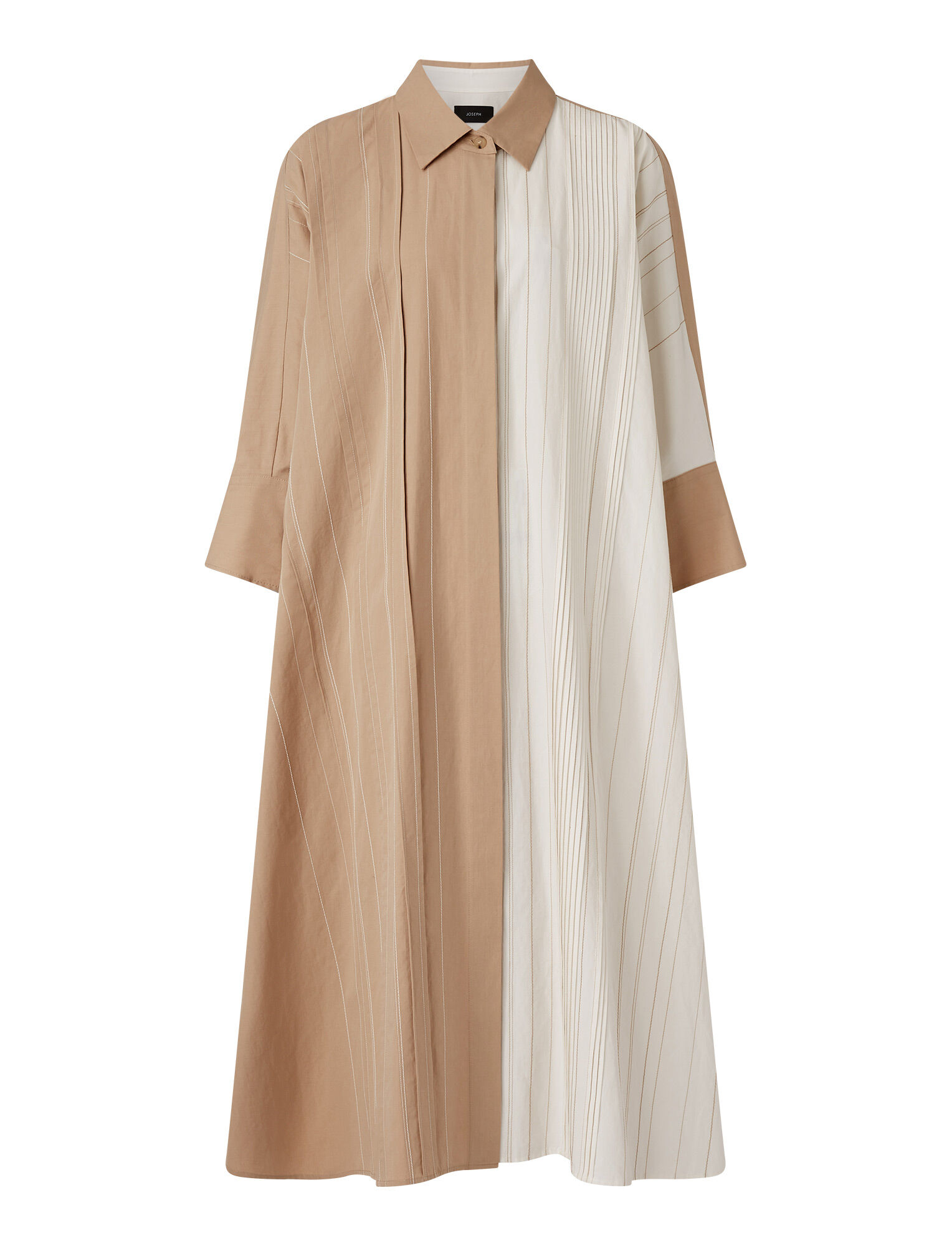 Joseph, Cotton Linen Dany Dress, in LINEN/OFF WHITE