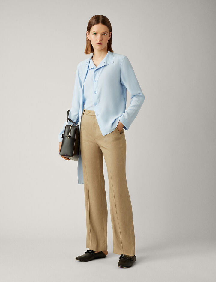 Joseph, Tropez Linen Stretch Trousers, in BEIGE