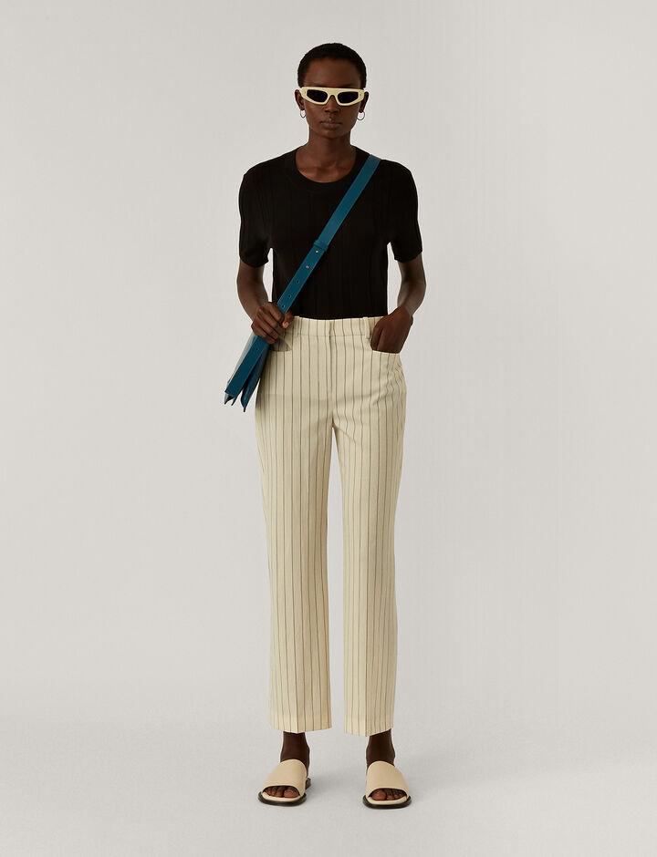 Joseph, Sloe-Wool Spring Stripe, in IVORY