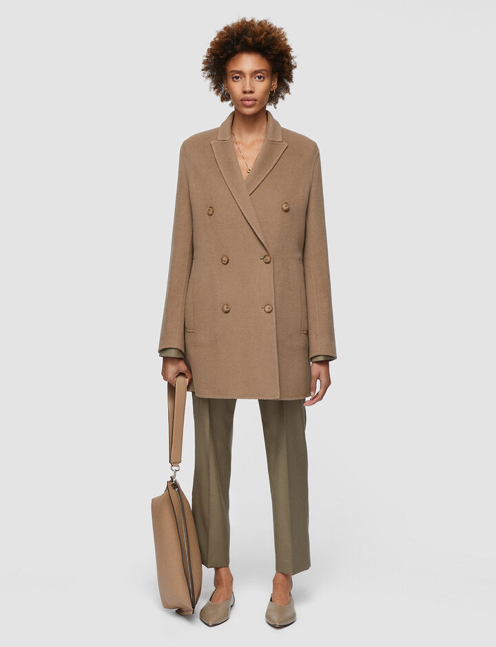 Joseph, Double Face Cashmere Cadyn Coat, in TAUPE