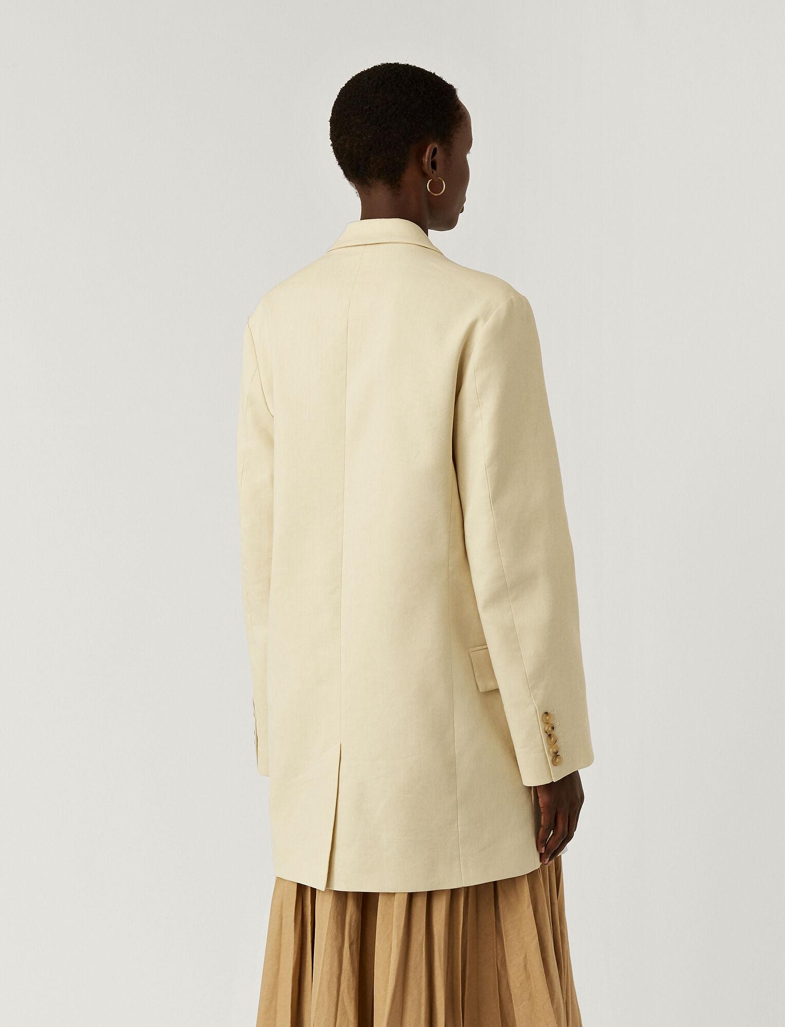 Joseph, Stretch Linen Cotton Julia Jacket, in OAT