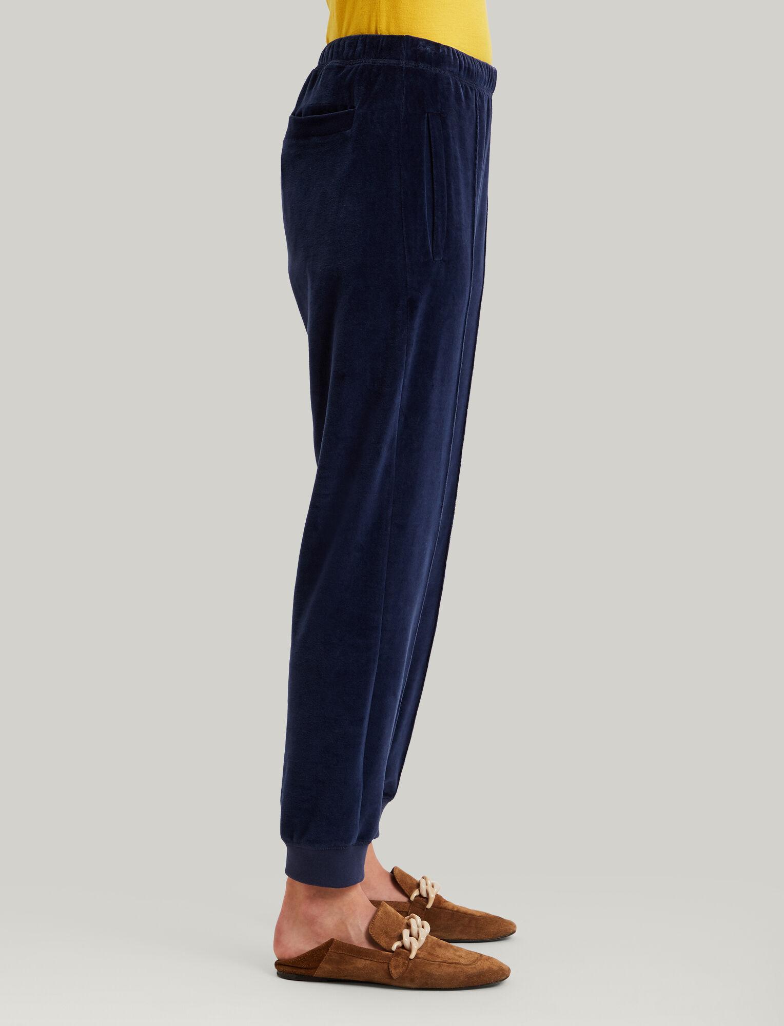 Joseph, Jog Jersey Velours Trousers, in NAVY