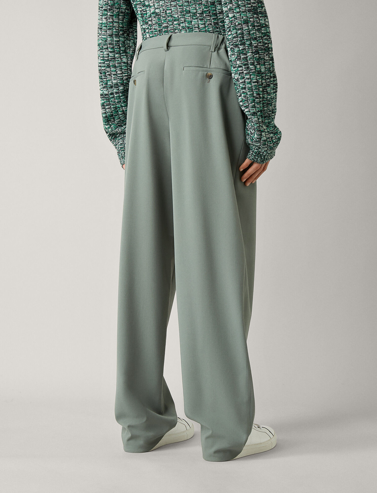 Joseph, Byrne Techno Wool Stretch Trousers, in SAGE