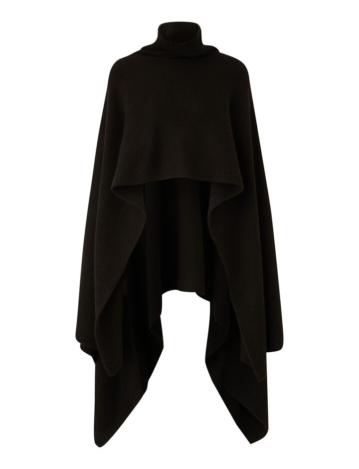 Joseph, Poncho Luxe Cashmere Knitwear, in Black