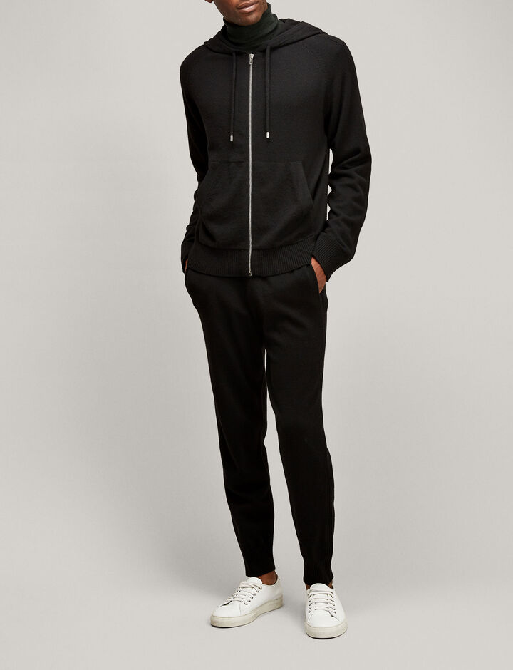 Joseph, Mongolian Cashmere Hoodie, in BLACK
