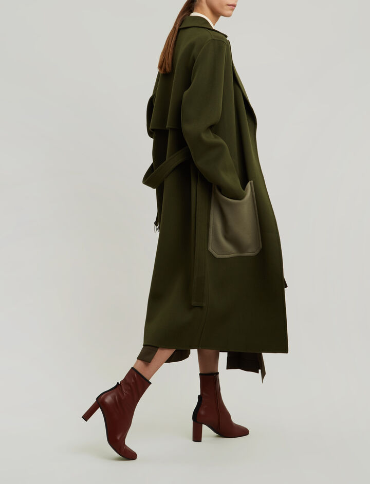 Joseph, Marcus Luxe Double Wool Coat, in MILITARY