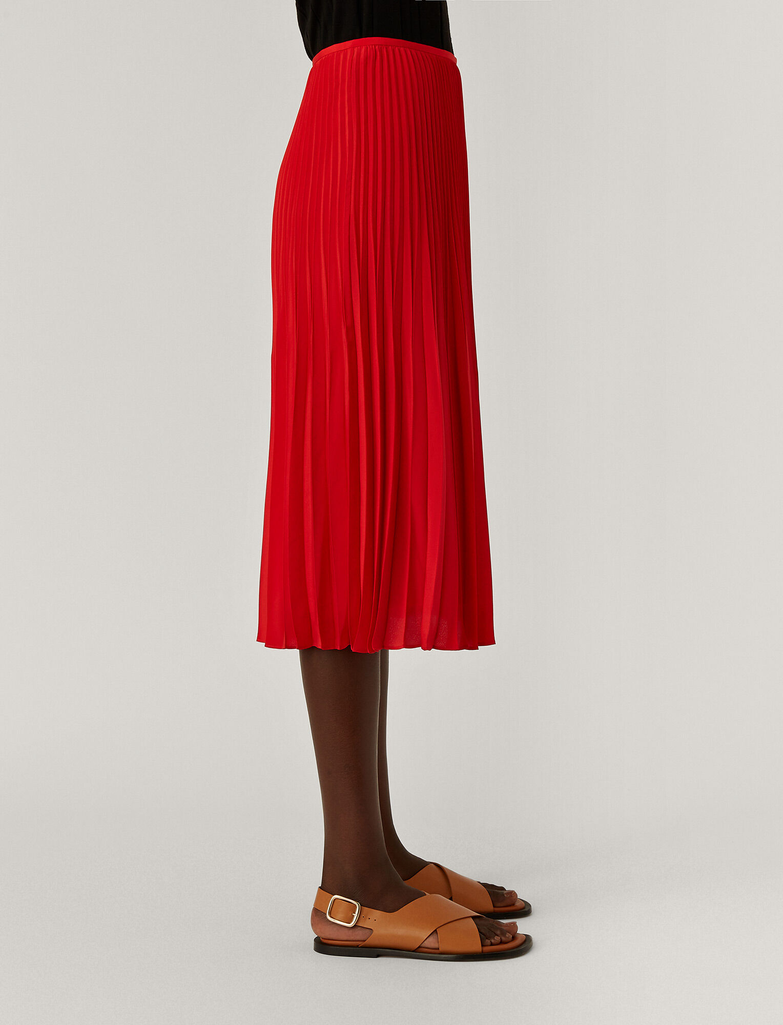 Joseph, Crepe de Chine Sorence Skirt, in FLAME