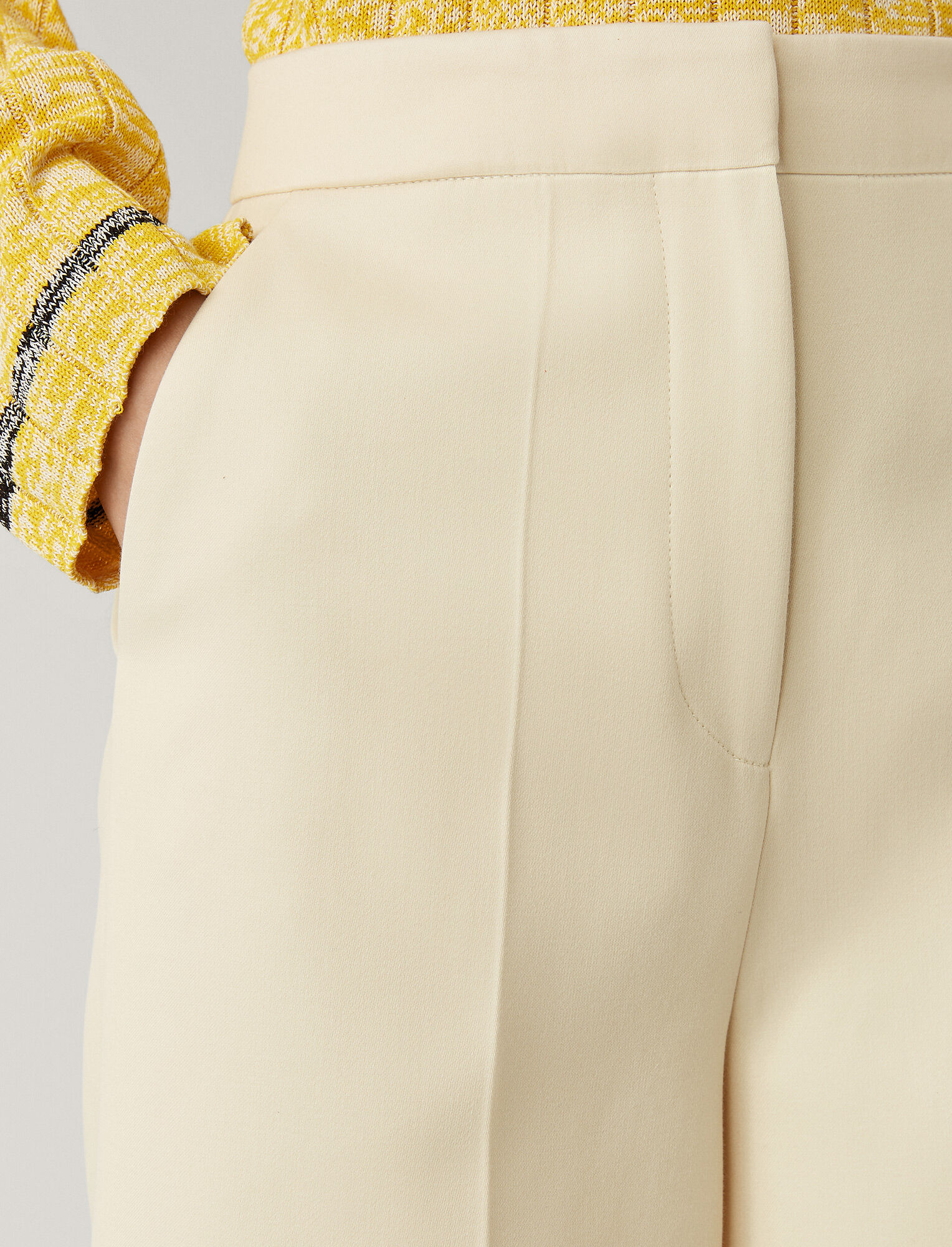 Joseph, Toy Cotton Sateen Trousers, in CREAM